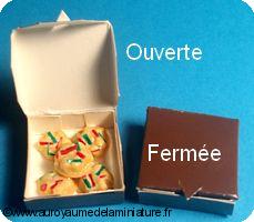 BOULANGERIE miniature, Boîte de PETITS-FOURS
