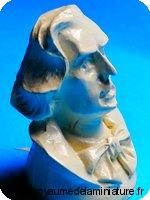 BUSTE miniature de CHOPIN , Coloris IVOIRE
