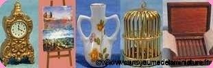 PENDULES / VASES / MIROIRS miniatures