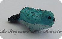 ANIMAUX miniatures >  OISEAU miniature NOIR / ORANGE / BLEU