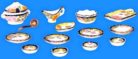 VAISSELLE miniature -  Set 14  pcs, SERVICE DE TABLE miniature