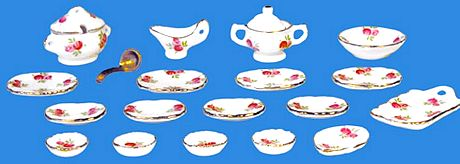 VAISSELLE miniature -  Set 19 pcs, SERVICE DE TABLE miniature