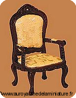 BUREAU - FAUTEUIL miniature en BOIS, Coloris ACAJOU