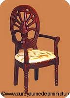 CHAISE de BUREAU miniature en BOIS, Coloris ACAJOU