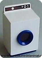 SDB - LAVE-LINGE miniature, Hublot bleu